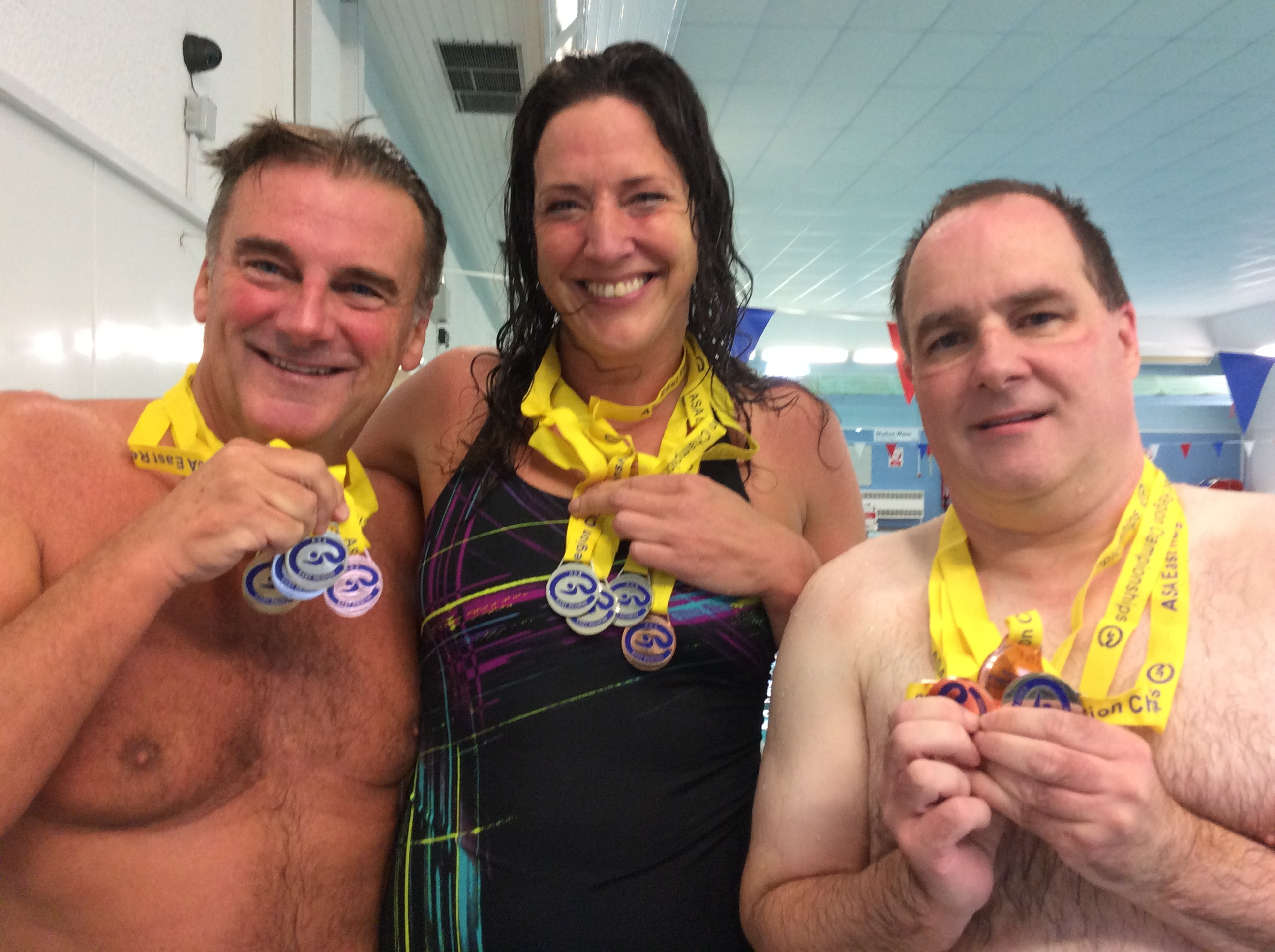 Masters Trio Win East Region Medals Team Luton Swimming