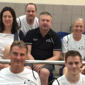 Our Masters squad at the Etwall Eagles meet